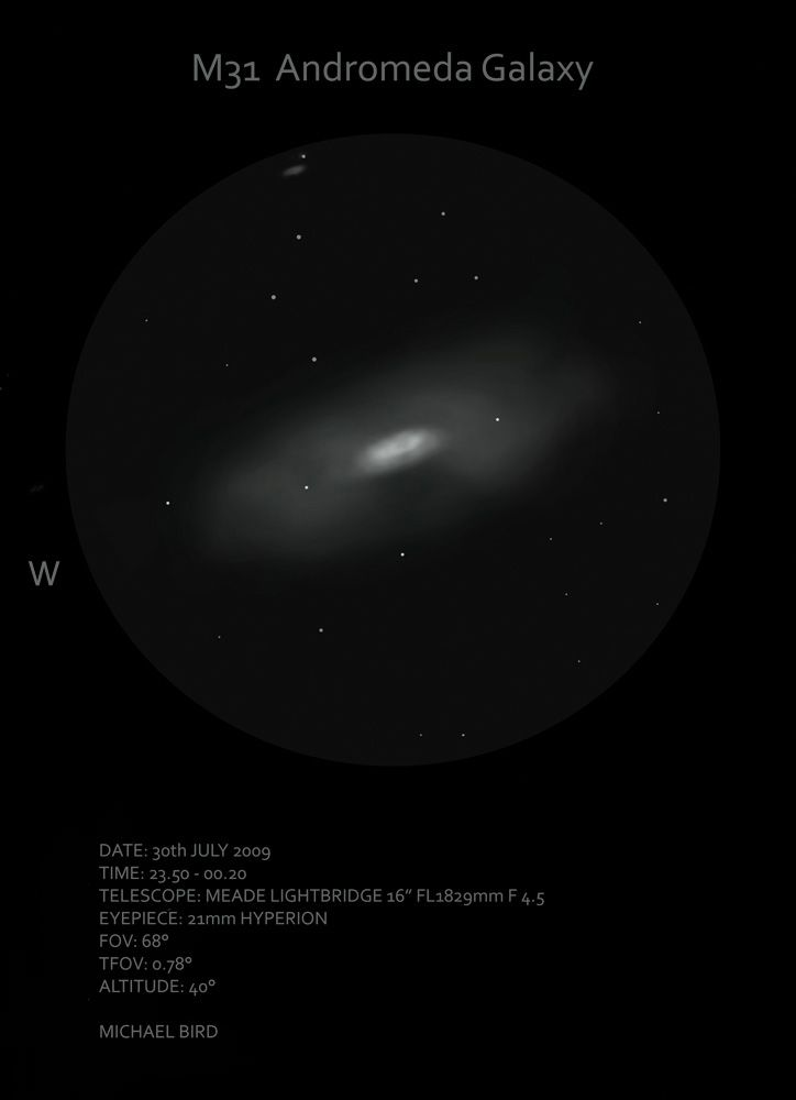 M31 Andromeda Galaxy Sketch - Sketching - Stargazers Lounge
